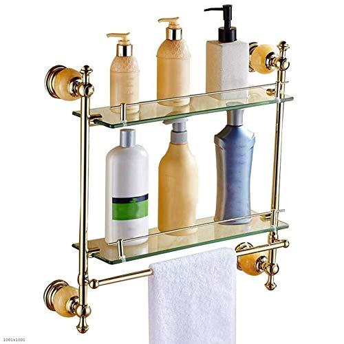 2nd Floor, Duschgestelle für Badezimmer No Rust, Wandhalterung Ablage Rechteckige Ablage für Hotel Kreatives Badezimmerregal -