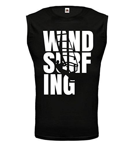 buXsbaum® Tank Top Windsurfing Type Black-White