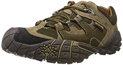 Woodland Men's Olive Green Leather Sneakers - 10 UK/India (44 EU)
