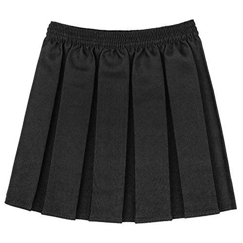 Girls Kids School Uniform Box Pleated Elasticated Waist Skirt