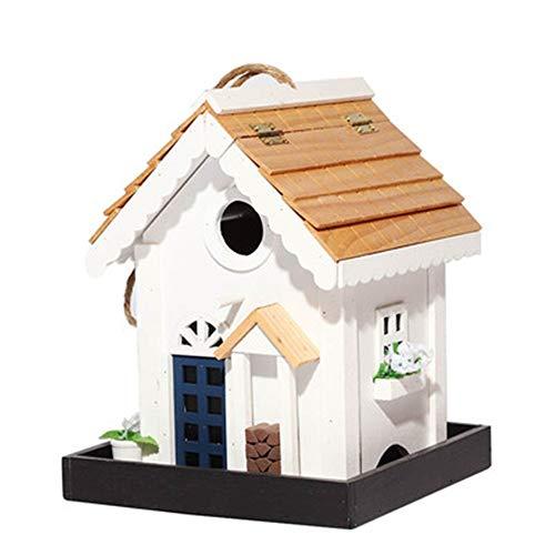 Pajarera Creative Vintage English Garden Garden Hut Bird House Bird House Bird Nest Nido De Madera Estéreo...