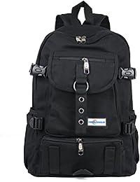 Aeoss Fashion Arcuate Shouider Strap Zipper Solid Casual Bag Male Backpack School Bag Canvas Bag Designer Backpacks...
