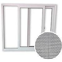 Schiebefenster SFS - 2-fach-Verglasung - 2-flügelig - Beide Seiten zum öffnen - BxH: 2200x1000 mm inkl. Insektenschutz