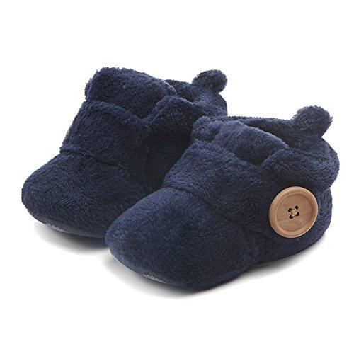Butterme Neugeborene Fleece Bootie, Unisex Baby Premium Soft Sole Anti-Rutsch Infant Prewalker Kleinkind Schuhe