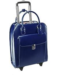 McKleinUSA - Maletín de Piel con Ruedas para portátil de 15,4 Pulgadas Azul Azul