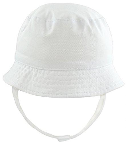 09728d317de3b Pesci Baby Boys Summer Bucket Sun Hat with Chin Strap (White