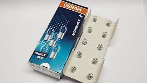 10er Pack Osram Halogen Miniwatt 4V 0,85A P13,5s Glühlbirne Lampe Fahrrad Taschenlampe