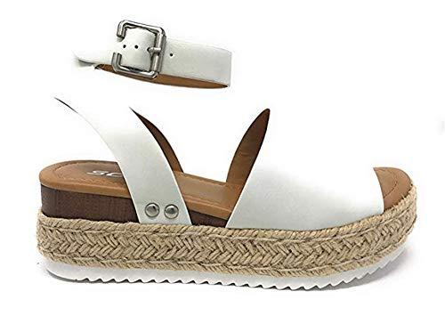 Sandales de VilleFemmes Casual Chaussures Plateforme Talon 5.5 CM Compensé d'Été Chaussons pour Plage Piscine Noir Gris Brown Léopard 35-43