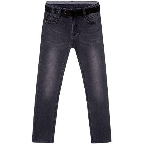 Kinder Jungen Jeans Hose mit Gürtel 21686, Größe:152 (Jungen Jeans Größe 12)