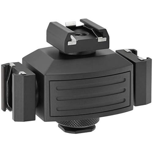 Micnova MQ-THA Blitzschuh-Erweiterung, Adapter für Blitzschuhanschluss - 3-Fachung des Blitzschuhanschlusses Um Mehrere Kamera Zubehörteile gleichzeitig zu Verwenden