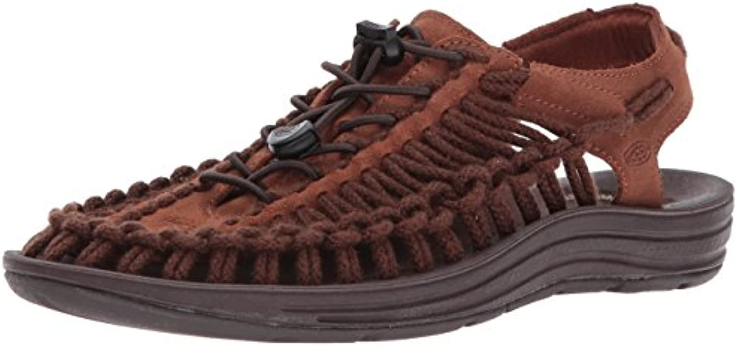 KEEN Men's Uneek Leather m Sandal  Tortoise Shell/Mulch SC  11 M US