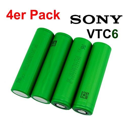 Sony Konion VTC6 - US18650VTC6 18650 Akku - 3120mAh - 30A , Menge:4 Stück