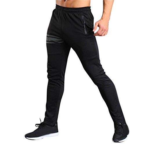 Jogginghose Cargohose Herren Chino-Hose Jogger Stretch Fitness Hose Trainingshose Fitnesshose Laufhose Pants Chinohose Trainingshose Sweatpant Fitnesshose Männer Loose Hose Fitness Hose LMMVP (XL, Schwarz) (Fleece-laufhosen)