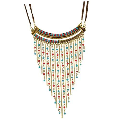 sharprepublic Böhmische Anweisung Halskette Quaste Perlen Chokerkragen Vintage Boho Modeschmuck Für Frauen Mädchen - Perle-perlen-halsketten-bulk