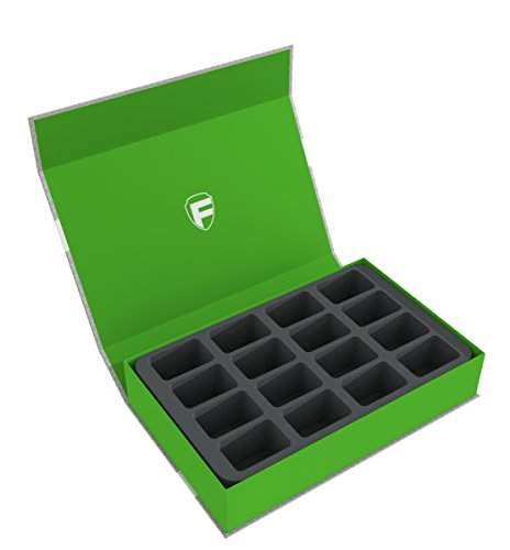 Feldherr Magnetic Box green for 16 Blood Bowl miniatures - 2016 Editio