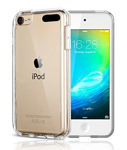 Vostrostone APPLE ipod touch 6 case KuGi MX style High quality ultra-thin Soft TPU Case for New iPod Touch 6th Generation. Clear C