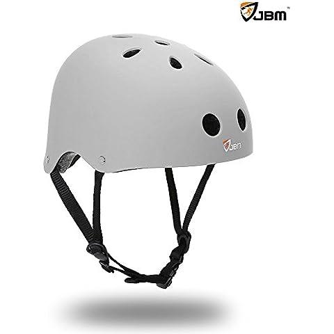 JBM-Casco da skateboard, con protezione di sicurezza, per skateboard, sport Scooter-Borsa per pattini in linea, a due ruote per bicicletta elettrica da ciclista per bici da strada, Mountain Bike, BMX, MTB, bici da strada e altri sport (resistenza agli impatti)