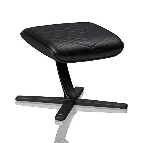 noblechairs Fußstütze für Gamingstühle/Bürostühle - PU-Kunstleder - Schwarz/Blau
