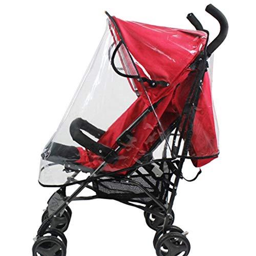 BaZhaHei Parapioggia Passeggino Universale Baby Jogger,Copertura Antipioggia Antivento per Passeggino Ombrello Impermeabile S-XL (White, S)