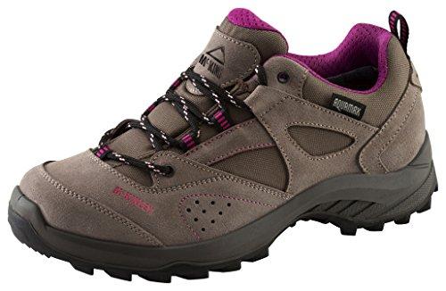McKINLEY Kinder Trekkingstiefel Santiago Pro AQX, Chaussures de Randonnée Hautes Mixte enfant, Gris (Anthracite/Red Dark 000), 38 EU