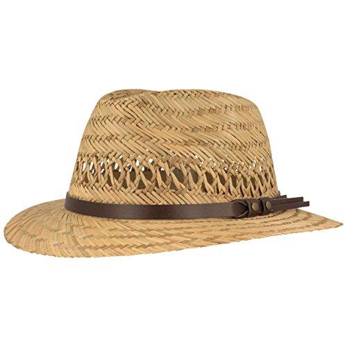 trohhut | Sommerhut | Sonnenhut - aus 100% Stroh Made IN Italy - Für Junge & Mädchen - Besonders Leicht & Bequem mit Kunstleder-Garnitur ()
