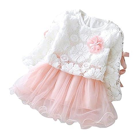 Hirolan Herbst Kinder Mädchen Party Spitze Tutu Prinzessin Kleid Säugling Baby Kleider Outfits (100cm, (Rock Band Baby Onesies)