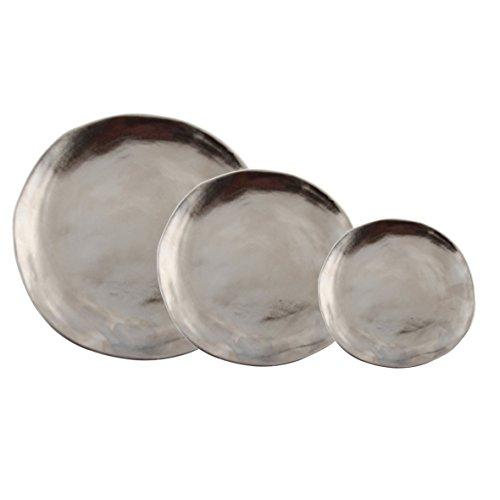 Set de 3platos pequeños de porcelana–Plata