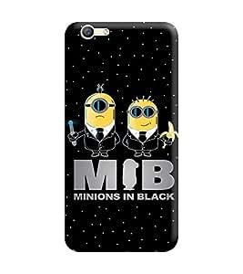 Gismo Oppo A57 Cover / Oppo A57 Back Cover / oppo a57 Designer Printed Back Case - Minion in Black
