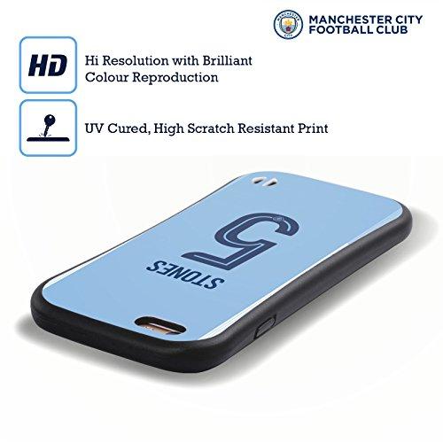 Ufficiale Manchester City Man City FC Nicolás Otamendi 2017/18 Giocatori Home Kit Gruppo 2 Case Ibrida per Apple iPhone 7 / iPhone 8 John Stones