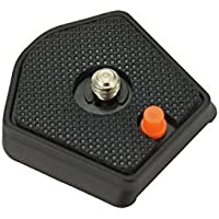 Sharplace Placa de Liberación Rápida QR para Placa Manfrotto 785pl Clearance 1/4 Screw Compatible con Mh293A3