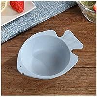 XeibD Tazón de Fuente de la Taza del Tenedor de la Placa de la Taza del Tenedor Anti-Roto portátil del hogar fijado para Las Comidas diarias (Rosa) (Color : Pink, tamaño : 20x20cm)