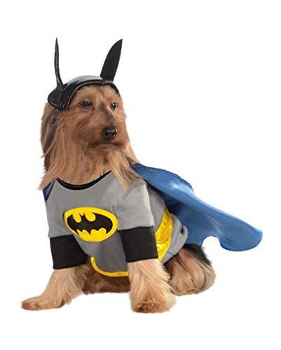 Horror-Shop Batman Hunde-Kostüm XL (Grau Batman Kostüm)