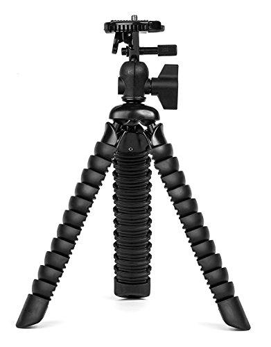 Alimao® Große Flexible Reise-Stativ für DSLR-Kamera Super Flexible Gelenke Mini Stativ (Schwarz)