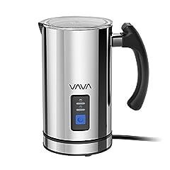 Idea Regalo - Montalatte Elettrico VAVA Schiumatore Acciaio Inox Caffè Latte Caldo Freddo Antiaderente Controllo Temperatura Strix Indicatore Livello