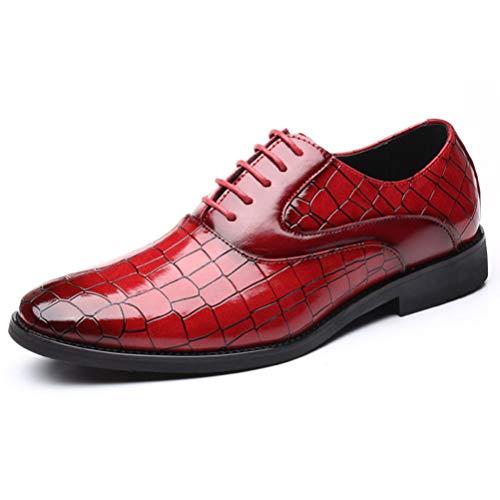 Qianliuk Mann Wohnungen Klassische Männer Kleid Schuhe Business Leder Formale Schuhe Spitz Oxford Schuhe Für Männer Plus Größe -