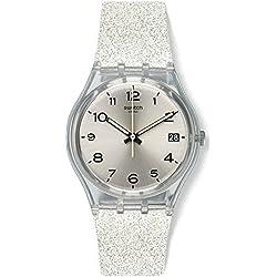 Swatch Reloj Digital para Mujer de Cuarzo con Correa en Silicona GM416C
