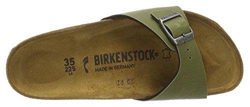 Birkenstock Unisex-Erwachsene Madrid Birko-Flor Pantoletten Grün (Pull Up Olive)
