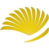 IPOTCH 12 Piezas de Plumas de Flecha Pluma de 5 Pulgadas Fletch para Flechas de Bricolaje Duradero - Amarillo