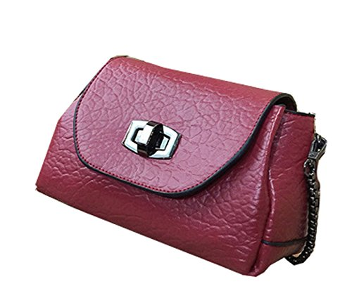La Signora Pendolari Catena Messenger Bag,Winered