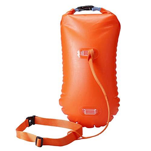 BESPORTBLE Mehrzweck-Open Water-Schwimmboje Ultraleichtes Sicherheitsschwimmer-Schwimmersack für Schwimmer Triathleten Schnorchler Surfer (Orange)