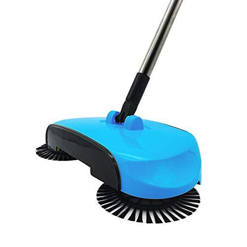 YOUNICER 3 in 1 Haushalt Handstoß Kehrmaschine 360 Dreh Reinigungsbürste Besen Bodenstaub-Reinigung Kehrmaschine -