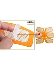 ABS gel training Pad di ricambio Esther Beauty gel per gel Pad stimolazione muscolare elettrica training Gear and fat Burning Massage device replacement gel foglio di carta 20PCS