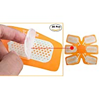 Esther Beauty Abs Gel Pads Training Replacement Pads, Abs Trainer Replacement Gel Sheet Abdominal Toning Belt and EMS Muscle Stimulator Accessories 20pcs Gel Sheet (M)