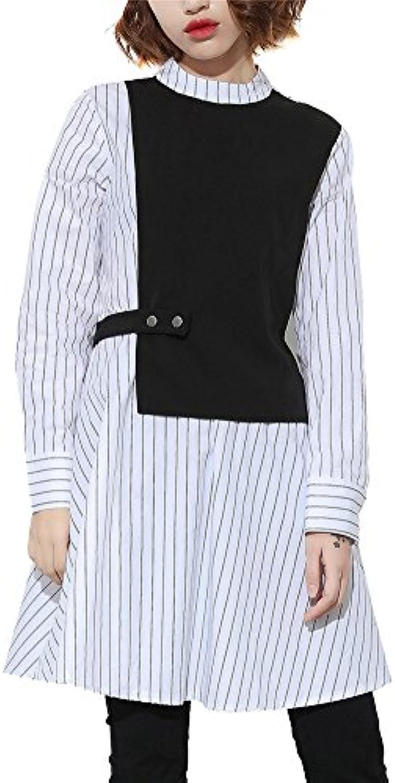 Donna Vestito Di Strisce Fake verdeicali Camicia Di Fake Strisce due pezzi  Slim o Eleganti B0769RKLKV Parent 6b20b1 3886ecc92b0