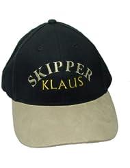 Captain's/s Skipper'Casquette avec le nom de la personne (Par exemple conducteur Klaus