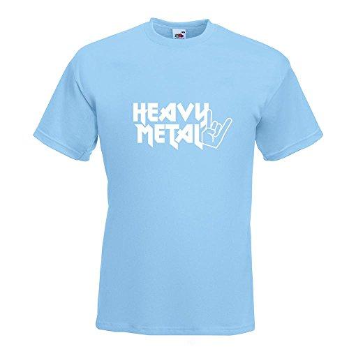 KIWISTAR - Heavy Metal Hardcore Trash Guitar Drums T-Shirt in 15 verschiedenen Farben - Herren Funshirt bedruckt Design Sprüche Spruch Motive Oberteil Baumwolle Print Größe S M L XL XXL Himmelblau