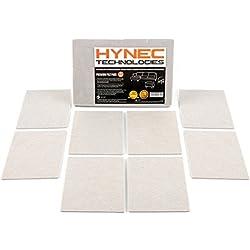 Patins de feutre pour meubles de qualité supérieure Hynec (8 grandes pièces) Autocollants à usage intensif Coupure sur mesure pour la protection du plancher 11,3 * 15,3 cm pièces rectangles