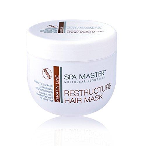 Spa Master Restrukturierung Haarmaske mit KERATIN 500 ml Parabenfrei Silikonfrei