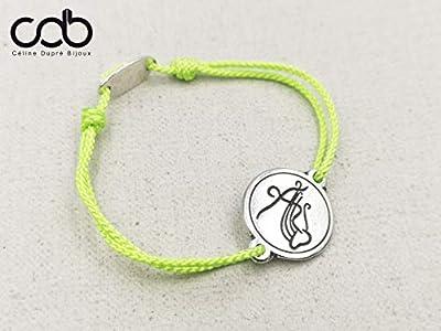 """Bracelet cordon tressé""""Surf"""" ø18mm - étain finition argent 925"""