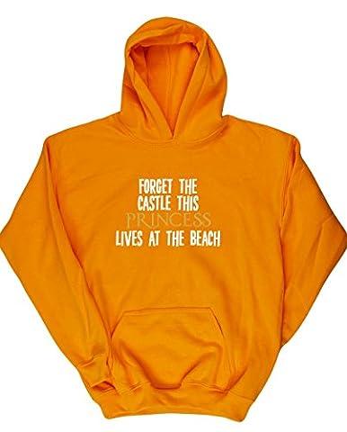 HippoWarehouse - Sweat-shirt à capuche - Fille - jaune -